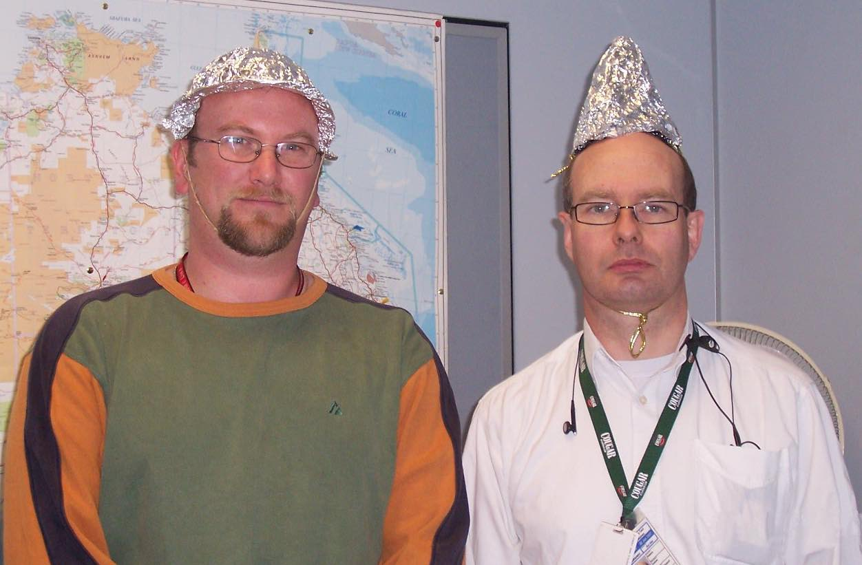 Protective Tin Foil Hats
